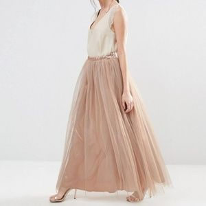 True Decadence Tall All Over Tulle Full Maxi Skirt